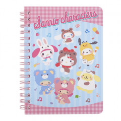 Sanrio A6 Twin Ring Notebook - Mix Characters / Cosplay