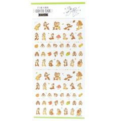 Japan Disney Kiratto Mark Seal Sticker - Chip & Dale
