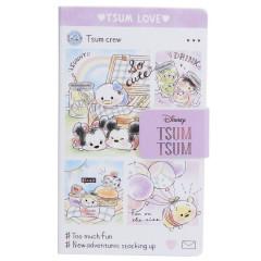 Japan Disney Smartphone Cover Memo Pad - Tsum Tsum Love