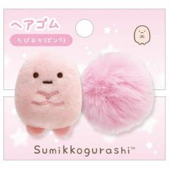 Japan San-X Hair Rubber - Sumikko Gurashi / Tapioca Pink