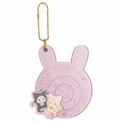 Japan San-X Keychain Slide Pocket Mirror - Sentimental Circus / Spica & Black Cat