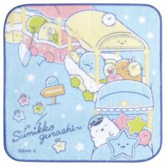 Japan San-X Petit Towel - Sumikko Gurashi / Starry Sky Walk Train