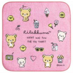 Japan San-X Petit Towel - Rilakkuma / Pink