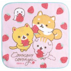 Japan San-X Petit Towel - Corocoro Coronya / Strawberry Bread
