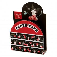 Japan Sanrio Washi Paper Masking Tape - Kuromi / Cherry