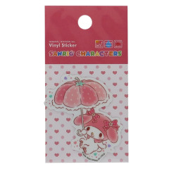 Japan Sanrio Vinyl Sticker - Melody & Umbrella