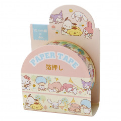 Japan Sanrio Washi Paper Masking Tape - Mix / Foil Stamping