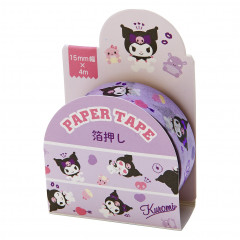 Japan Sanrio Washi Paper Masking Tape - Kuromi / Foil Stamping