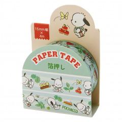 Japan Sanrio Washi Paper Masking Tape - Pochacco / Foil Stamping