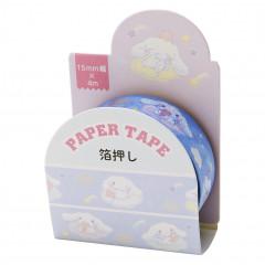 Japan Sanrio Washi Paper Masking Tape - Cinnamoroll / Foil Stamping
