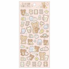 Japan San-X Rilakkuma Bear Seal Sticker - Chairoikoguma DIY Plushie / Pink