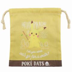 Japan Pokemon Drawstring Bag (XS) - Pikachu / Poke Days