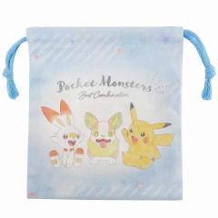 Japan Pokemon Drawstring Bag (XS) - Pikachu / Hi Friends