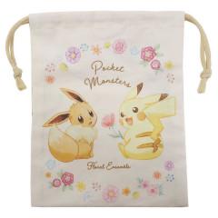 Japan Pokemon Drawstring Bag (S) - Pikachu & Eevee Evolution