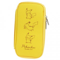 Japan Pokemon Sepa Multi-Case Flat Pen Pouch - Pikachu / Yellow
