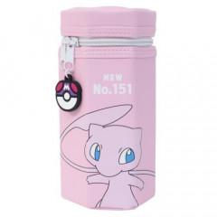 Japan Pokemon Hexagonal Pen Pouch - Mew / Pink