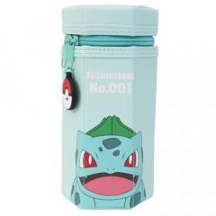 Japan Pokemon Hexagonal Pen Pouch - Bulbasaur / Green