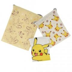 Japan Pokemon Drawstring Bag Set - Pikachu Evolution