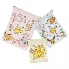 Japan Pokemon Drawstring Bag Set - Pikachu / Crayon