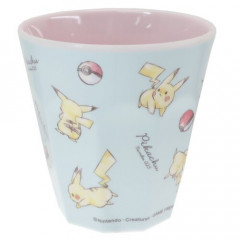 Japan Pokemon Melamine Cup - Pikachu / Light Blue
