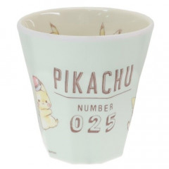 Japan Pokemon Melamine Cup - Pikachu / Light Green