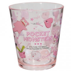 Japan Pokemon Acrylic Cup Clear Airy - Pink