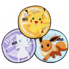Japan Pokemon Fluffy Handkerchief Set - Pikachu / Eevee / Mew