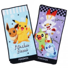 Japan Pokemon Face Towel Set - Pikachu / Eevee