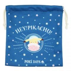 Japan Pokemon Drawstring Bag (S) - Pikachu / Good Night