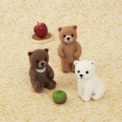Japan Hamanaka Aclaine Needle Felting Kit - Baby Bear