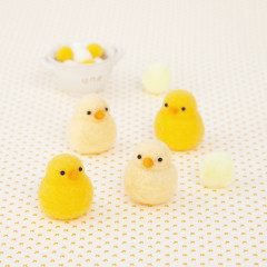 Japan Hamanaka Aclaine Needle Felting Kit - Baby Chick