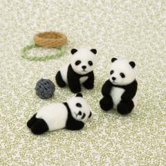 Japan Hamanaka Aclaine Needle Felting Kit - Baby Panda