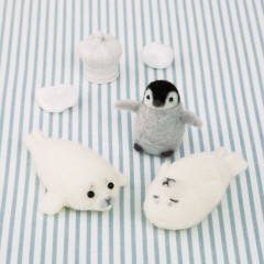 Japan Hamanaka Aclaine Needle Felting Kit - Baby Penguin & Seals