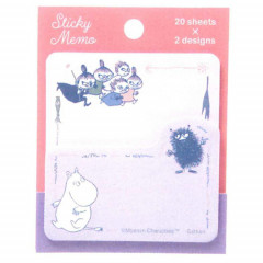 Japan Moomin Sticky Notes - Pink Purple