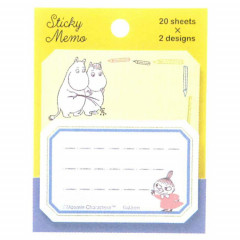 Japan Moomin Sticky Notes - Yellow Blue