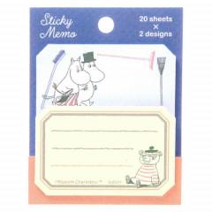 Japan Moomin Sticky Notes - Blue Orange