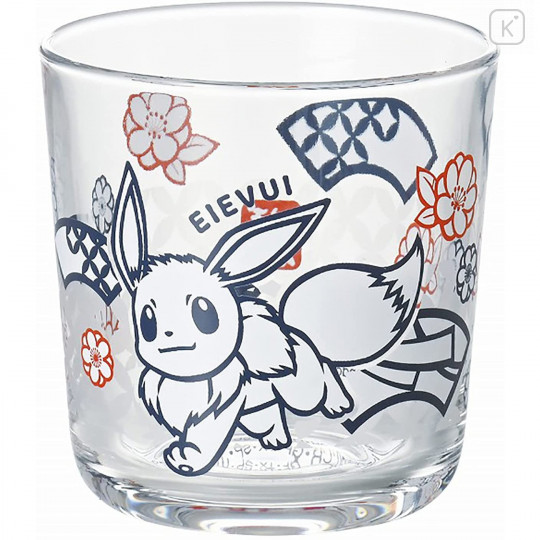 Japan Pokemon Wide Tumbler - Eevee / Papercutting - 1