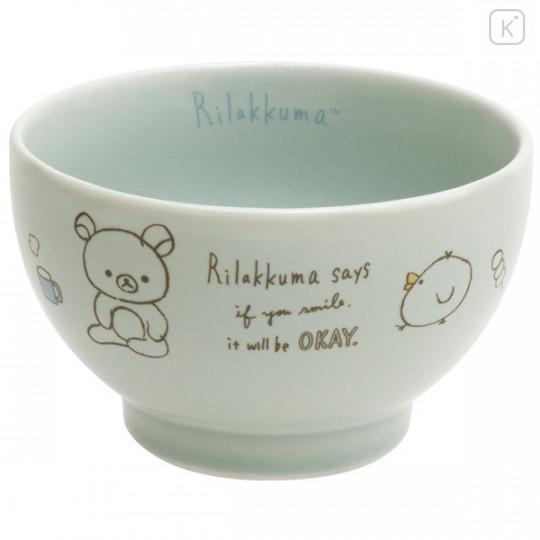 Japan San-X Rilakkuma Bowl - Blue Green - 1