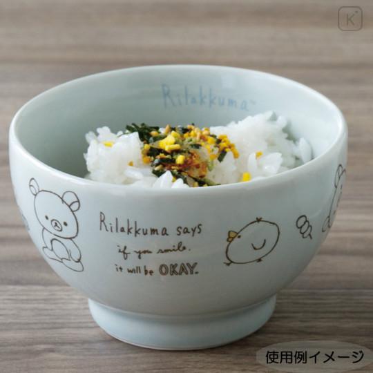Japan San-X Rilakkuma Bowl - Blue Green - 4