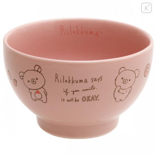 Japan San-X Rilakkuma Bowl - Pink - 1