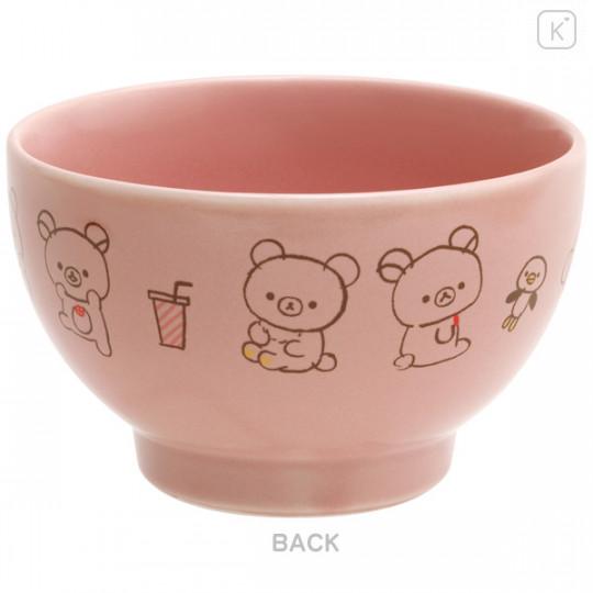 Japan San-X Rilakkuma Bowl - Pink - 2