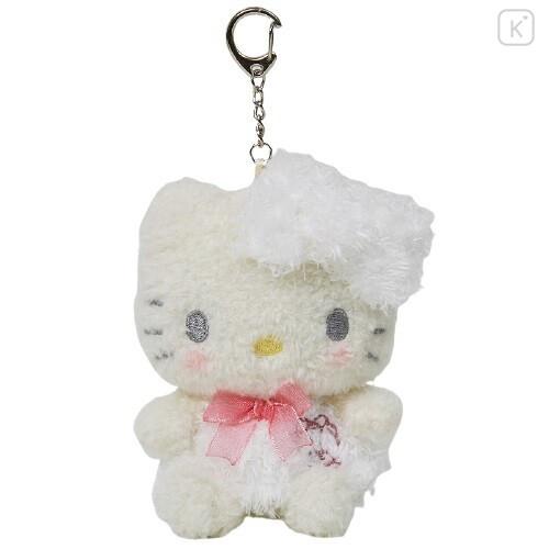 Japan Sanrio Keychain Fluffy Plush - Hello Kitty - 1