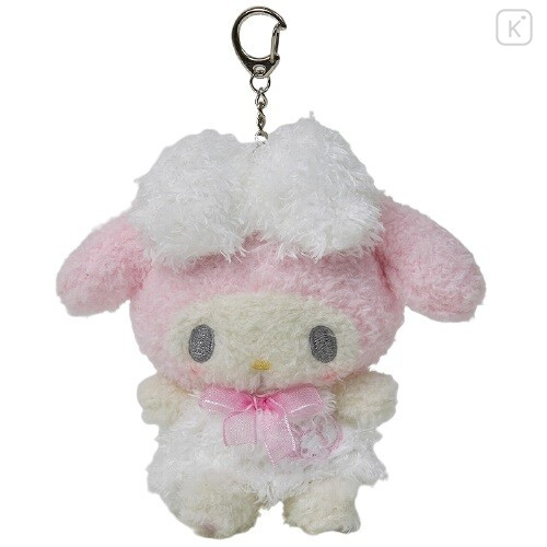 Japan Sanrio Keychain Fluffy Plush - My Melody - 1