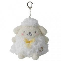 Japan Sanrio Keychain Fluffy Plush - Pompompurin