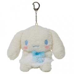Japan Sanrio Keychain Fluffy Plush - Cinnamoroll