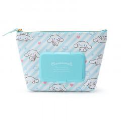 Japan Sanrio Wet Wipe Pocket Pouch - Cinnamoroll / Stripe