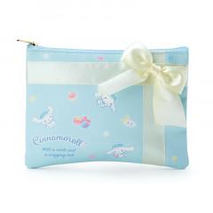 Japan Sanrio Flat Pouch & Confectionery Set - Cinnamoroll
