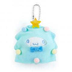 Japan Sanrio Mini Plush Keychain with Candy - Cinnamoroll / Christmas Tree
