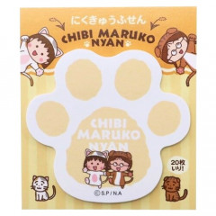 Japan Chibi Maruko-chan Sticky Notes - Cat Hand / Orange