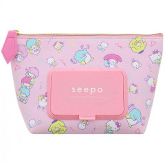 Japan Sanrio Wet Wipe Pocket Pouch - Mix Characters